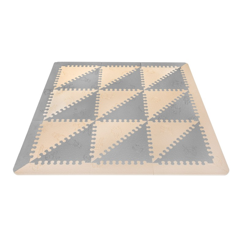 Alfombra Puzzle Beige/Grey LuBabymats