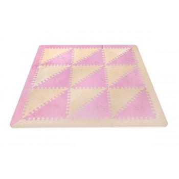 Alfombra Puzzle Pink/Beige LuBabymats
