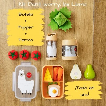kit alimentación 3 sprouts dont worry be llama