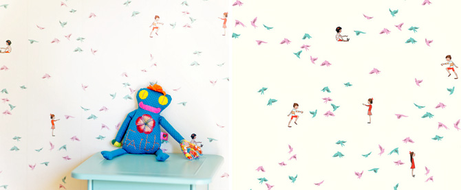 papel pintado infantil sarahjanestudios with the birds wallpaper