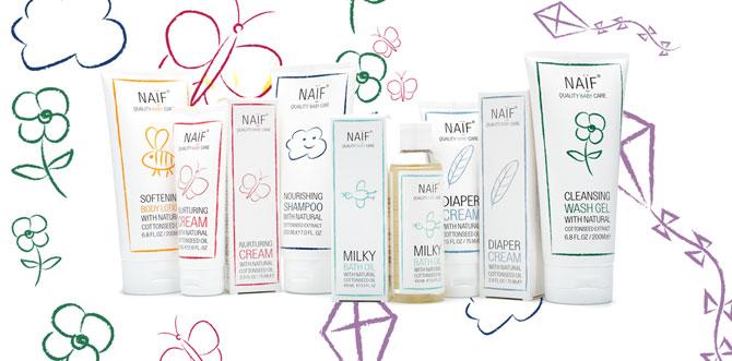 cremas para bebes Naif Care